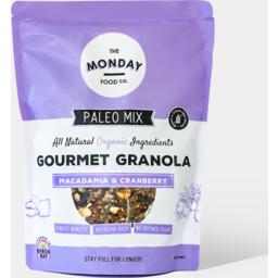 Photo of The Monday Food Co - Macadamia & Cranberry Granola - 800g