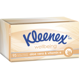 Photo of Kleenex Aloe Vera & Vitamin E Facial Tissues 95 Pack