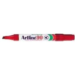 Photo of Artline 90 Chisel Tip Marker Red