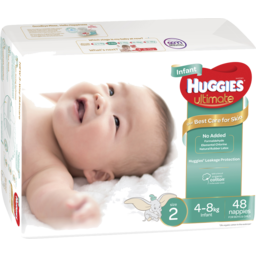 Photo of Huggies Ultimate Infant Nappies Unisex Size 48x2