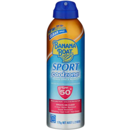 Photo of Banana Boat Spf50+ Sport Cool Zone Clear Spray 175gm