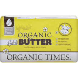 Photo of Organic Times Organic Butter Lightly Salted 250g