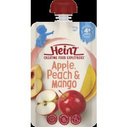 Photo of Heinz Apple, Peach & Mango Baby Food Pouch 4+ Months 120g