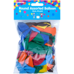 Photo of Korbond Balloon Round Assorted 40pk