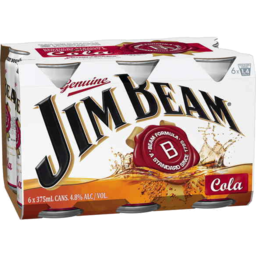 Photo of Jim Beam White Label & Cola Cans