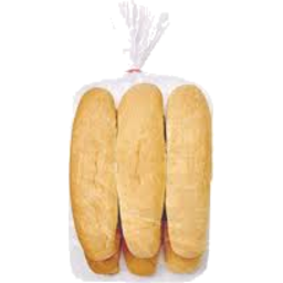 Photo of White Seeded Sliced Hot Dog Rolls 6 Pack
