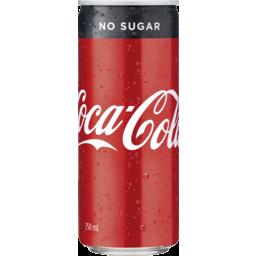 Photo of Coca-Cola No Sugar Soft Drink Can 250ml