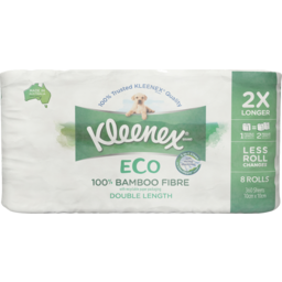 Photo of Kleenex Eco Toilet Paper Double Length With 100% Bamboo Fibre 8 Pack