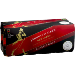 Photo of Johnnie Walker Red & Cola Cans - 10 X 375ml