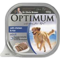 Photo of Optimum With Chicken Rice & Vegetables 100g