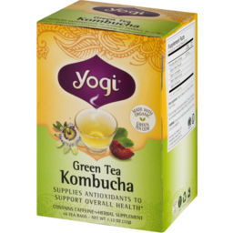 Photo of Yogi Green Tea Kombucha Tea - 16 Ct