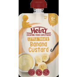 Photo of Heinz® Little Treats Banana Custard Baby Food Pouch 6+ Months 120g