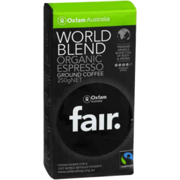 Photo of Oxfam Fair World Blend Ground Coffee 250gm