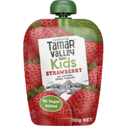 Photo of Tamar Valley Dairy Tamar Valley Kids Greek Yoghurt Strawberry 110g