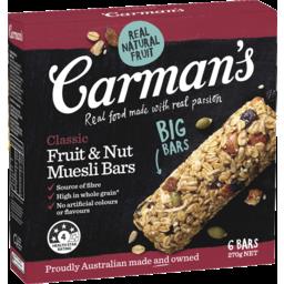 Photo of Carmans Classic Fruit Muesli Bars 6pk 270g