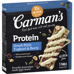 Photo of Carman's Greek Style Yoghurt & Berry Protein Bars 200g