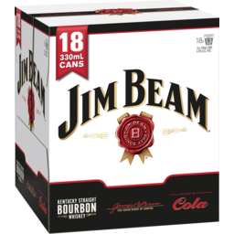 Photo of Jim Beam & Cola Cans