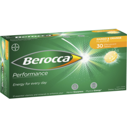 Photo of Berocca Energy Vitamin Mango & Orange Effervescent Tablets 30 Pack