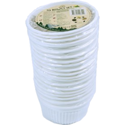 Photo of EcoSouLife Cornstarch Disposable Bowl 20pc