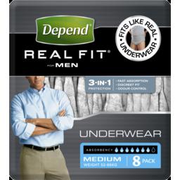 Photo of Depend Realfit U/W Male M 8x4