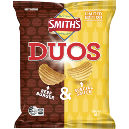 Photo of Smith's Duos Limited Edition Beef Burger & Special Sauce 150g