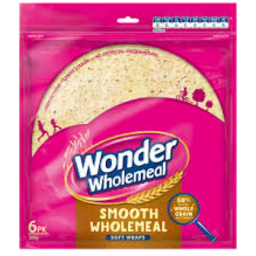 Photo of Wonder Wraps Smooth Wholemeal 6pk