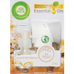 Photo of Air Wick Scented Oil Diffuser & Refill Vanilla & Soft Cashmere 21ml
