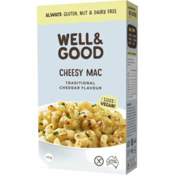 Photo of Well & Good Cheesy Mac Traditional Cheddar Flavour 110g