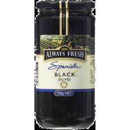 Photo of Always Fresh Black Olives 450g