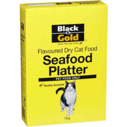 Photo of Black & Gold Cat Food Seafood Platter 400g