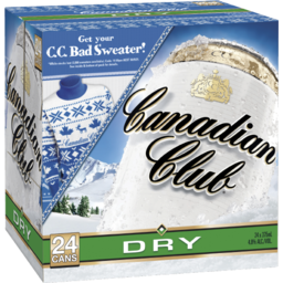 Photo of Canadian Club & Dry Cans 4.8
