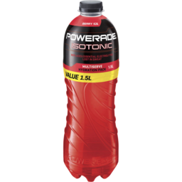 Photo of Powerade Isotonic Berry Ice Sports Drink Flat Cap 1.5l