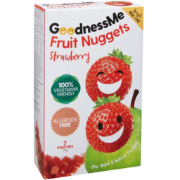 Photo of Goodness Me Fruit Nuggets Strawberry 119gm
