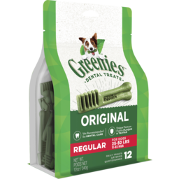 Photo of Greenies™ Original Regular Dental Dog Treat 12 Pack 340g Pouch