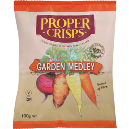 Photo of Proper Crisps Garden Medley 100g