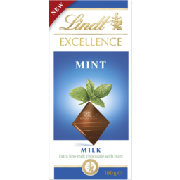 Photo of Lindt Excellence Milk Mint 100g