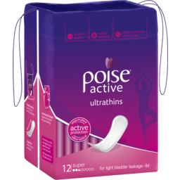 Photo of Poise Pad Active U/T Sup 12s