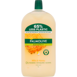 Photo of Palmolive Naturals Liquid Hand Wash Soap Milk & Honey With Moisturising Milk Refill & Save 0% Parabens Recyclable 1l