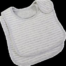 Photo of  Bib Set Grey Fine Stripe
