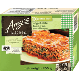 Photo of Amy's Kitchen Frozen Ready Meal - Vegetable Lasagna (Gluten Free)