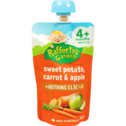 Photo of Raffertys Garden Sweet Potato Carrot & Apple 120g