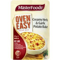 Photo of Masterfoods Recipe Base Creamy Herb & Garlic Potato Bake 175g