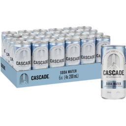 Photo of CASCADE SODA WATER CAN 200ML 4PK