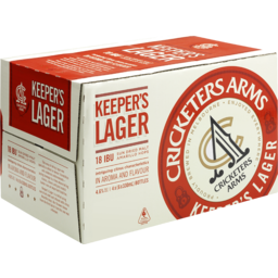 Photo of Cricketers Arms Keeper's Lager Stubbies