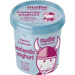 Photo of Nudie Icelandic Yoghurt - Raspberry & Redcurrant 170gm