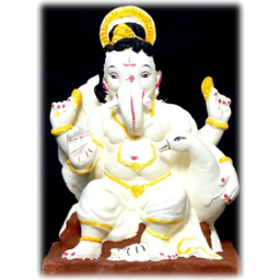 """Photo of 18"""" ECO PAINTED GANESH IDOL OF CLAY - 015"""