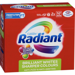 Photo of Radiant Powder All Machines Whites & Colours 500g