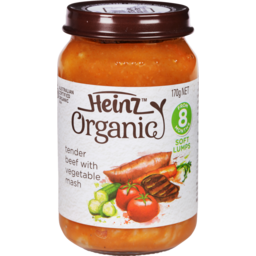 Photo of Heinz Organic Beef With Vegetables 170g