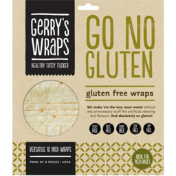 Photo of Wraps Gerrys No Gluten 10 Inch 6 Pack 360g