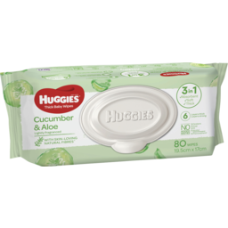 Photo of Huggies Wipes Lightly Fragranced With Cucumber & Aloe 80pk